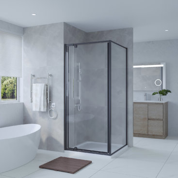 SS01 BLACK RANGE SHOWER SCREEN