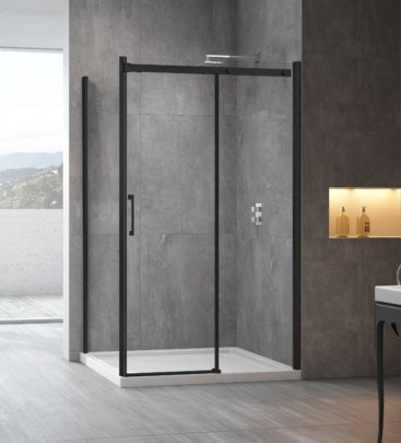 SS20 BLACK Range SHOWER SCREEN