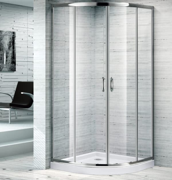 850x850 Curved Corner Sliding Shower Screen Melbourne