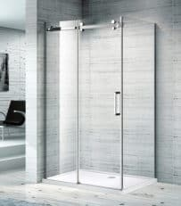 1150X850 SLIDING DOOR SEMI FRAMLESS SHOWER SCREEN