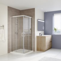 900x900 SQUARE CORNER SLIDING SHOWER SCREEN SS03-900