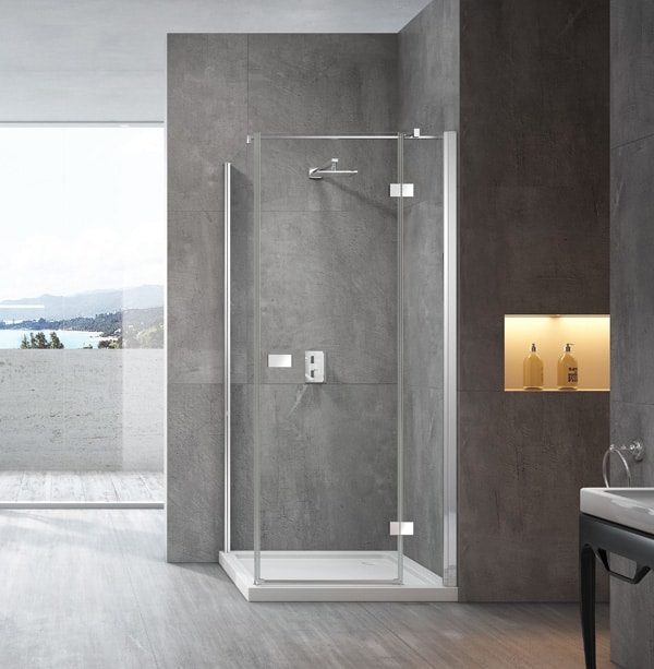 1000x1000 Semi Frameless Pivot Door Shower Screen