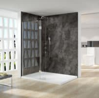 800 WALK IN SHOWER SCREEN WITH 300MM SWIVEL PANEL