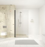 melbourne bathroom black walk in shower screen - sml web