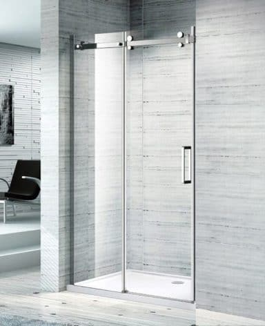 melbourne bathroom sliding shower screen front only ss08