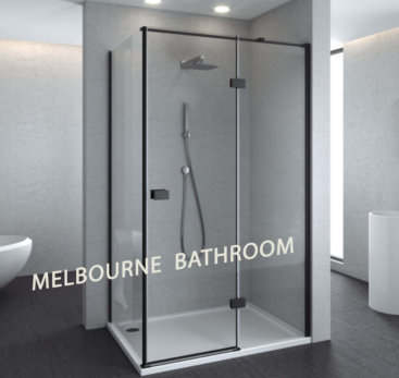 SS17BLK melbourne bathroom black shower screen
