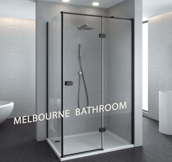 SS17 BLK melbourne bathroom black shower screen