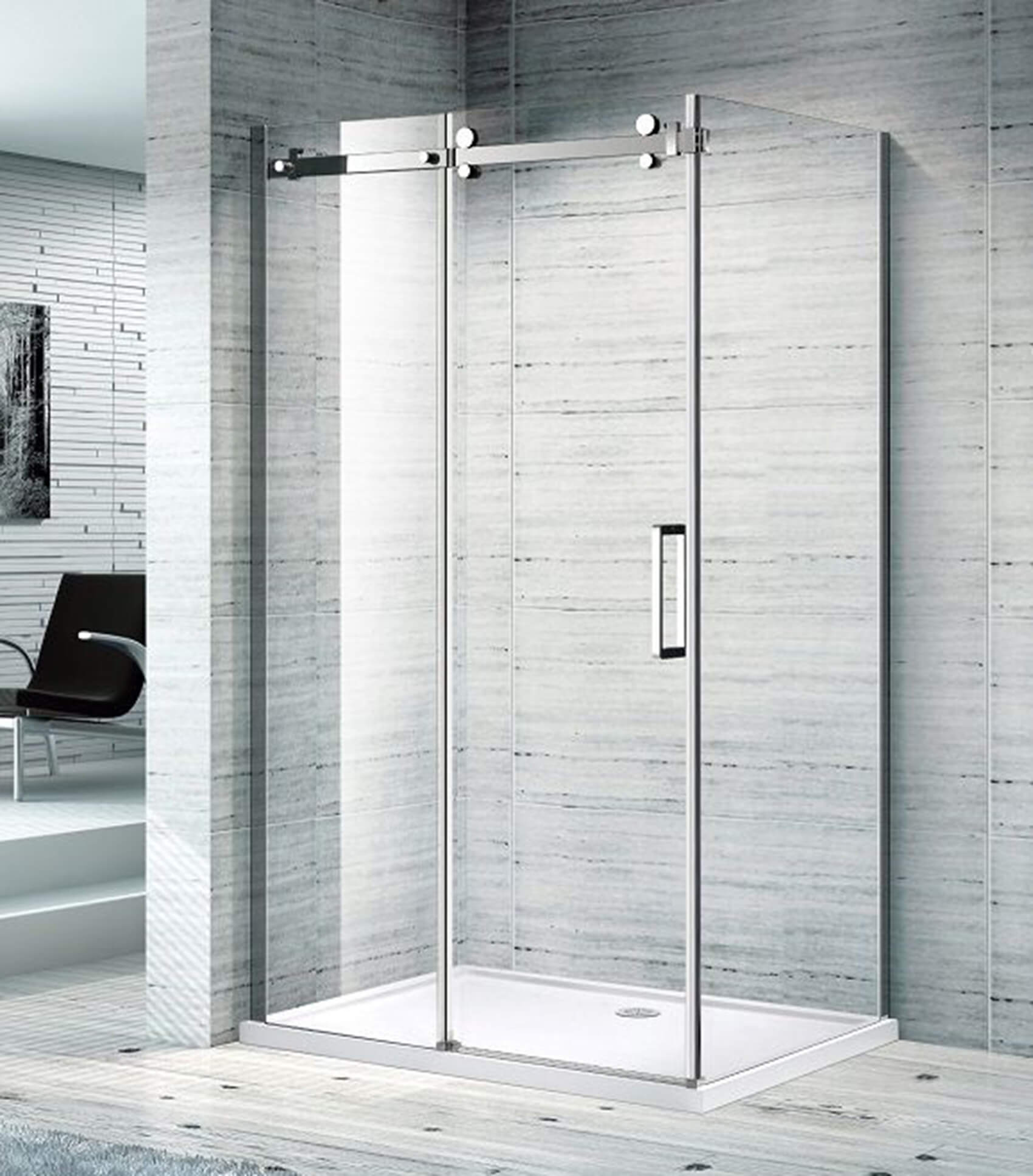 MELBOURNE BATHROOM SLIDING SHOWER SCREEN 07