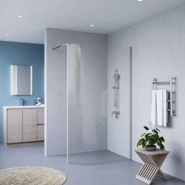 SS23 CURVED WALK IN SHOWER SCREEN